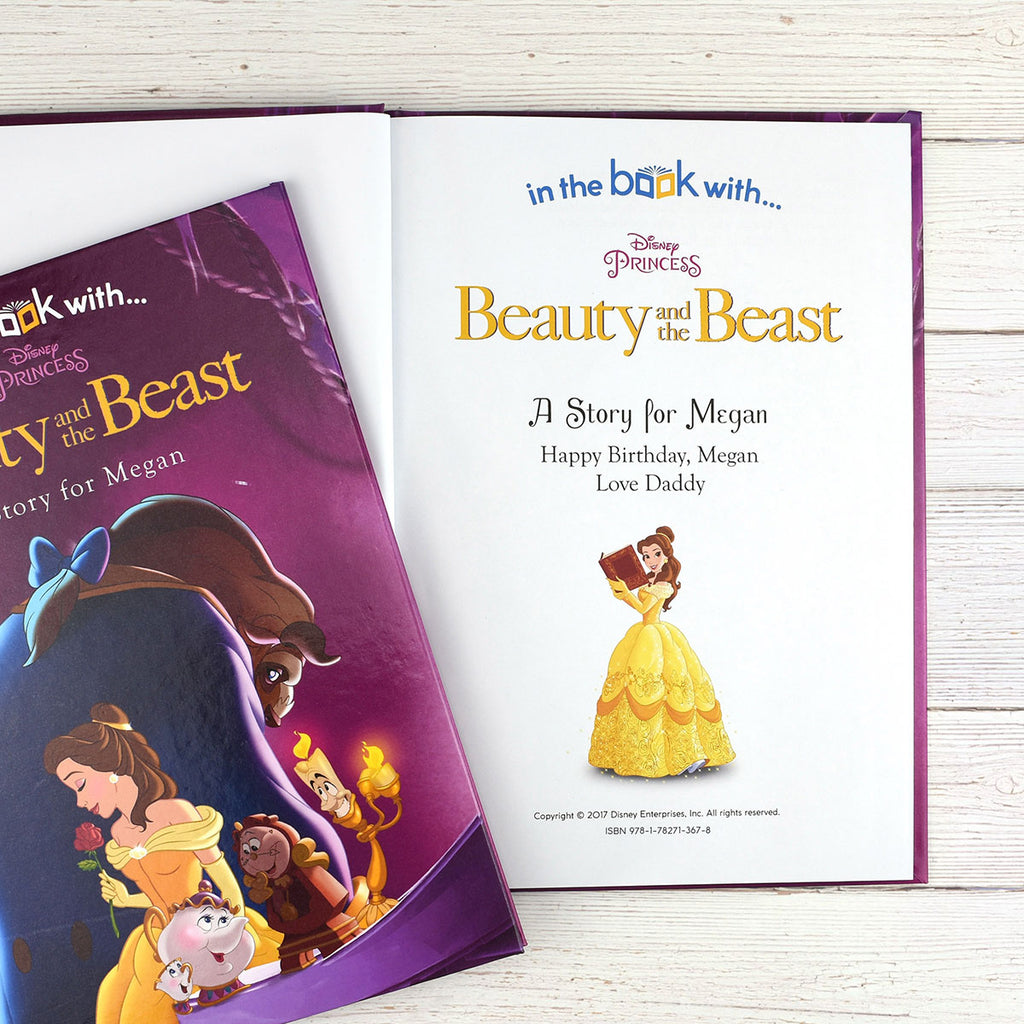 Personalised Disney Beauty & the Beast Book - Oh My Gift - Personalised Message