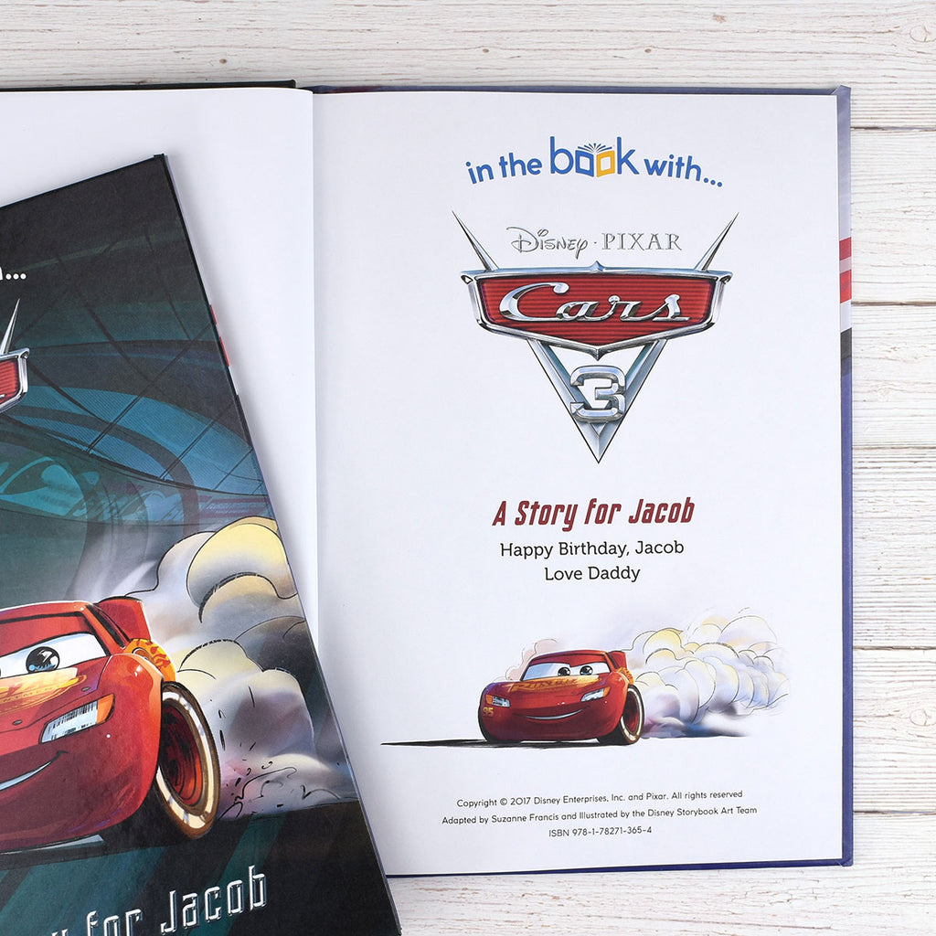 Personalised Disney Cars 3 Book - Oh My Gift - Personalised Message