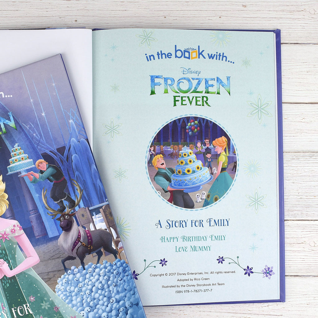 Personalised Disney Frozen Fever Book - Perfect Gift for Little Princesses - Oh My Gift