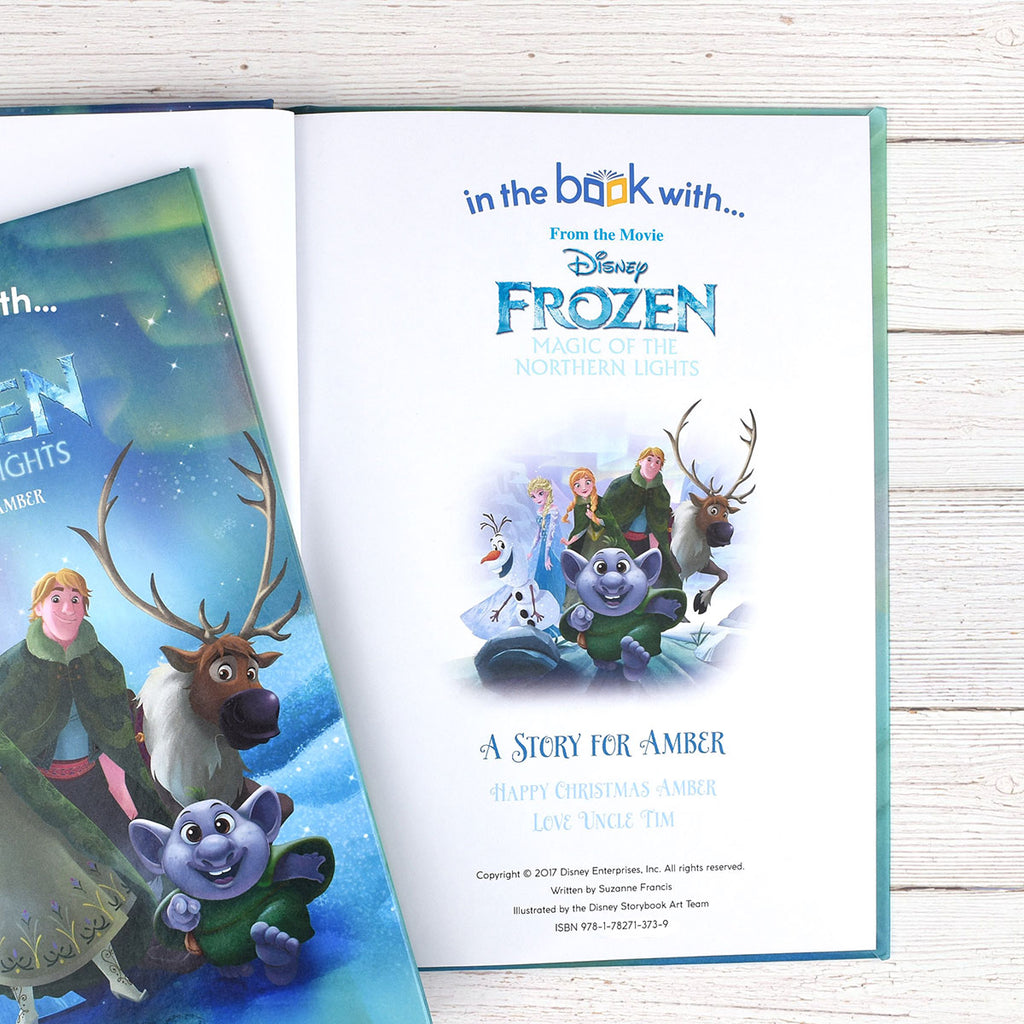 Personalised Disney Frozen Northern Lights Book - Great Gift for Frozen Fans - Oh My Gift