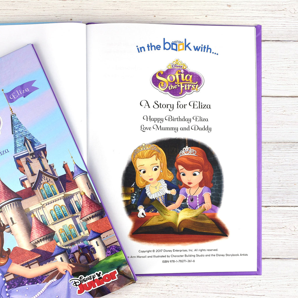 Sofia the First Disney Book  - Add Any Name & Message - Oh My Gift
