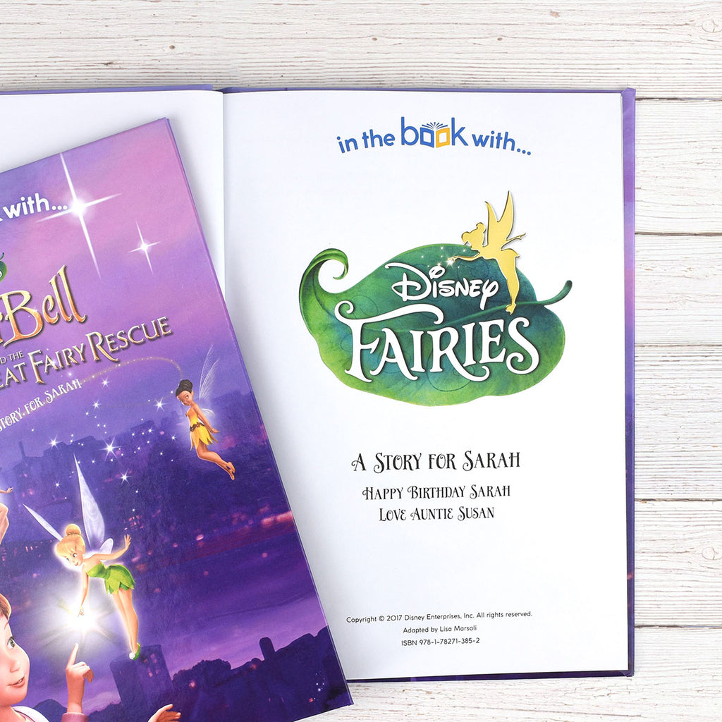 Personalised Disney Fairies Book Starring Tinkerbell - Oh My Gift