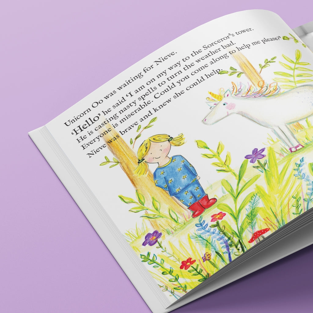 Unicorn Oo Personalised Book for Children Open Page - Oh My Gift