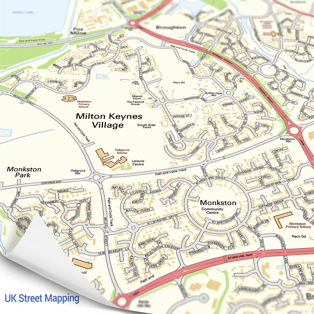 Map Jigsaw centred on a UK postcode of your choice showing street detail - Oh My Gift