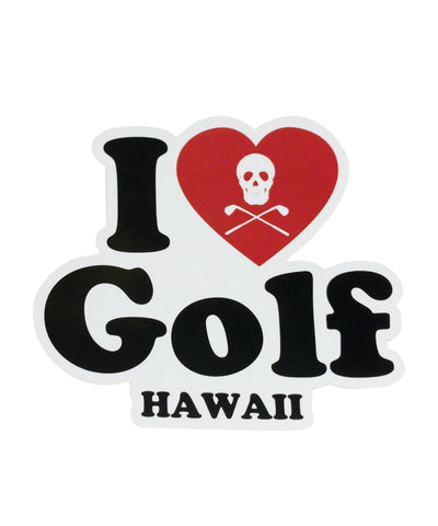 I LOVE GOLF STICKER