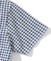 Duel Gingham Mock Neck Top | WOMEN