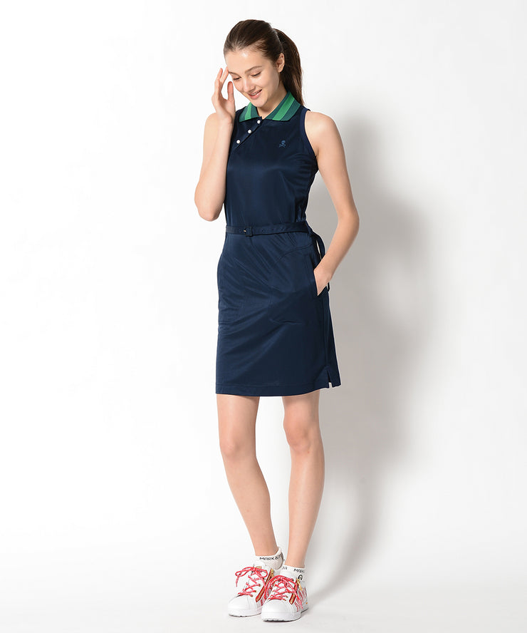 Lucy No Sleeve Polo Dress | WOMEN