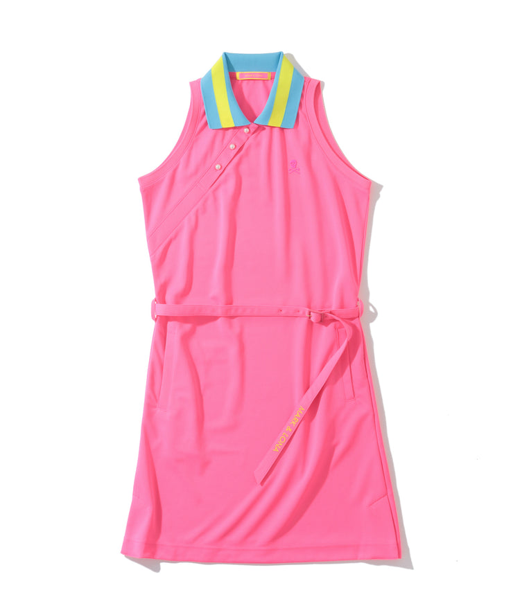 Lucy Sleeveless dress / flamingo | WOMEN