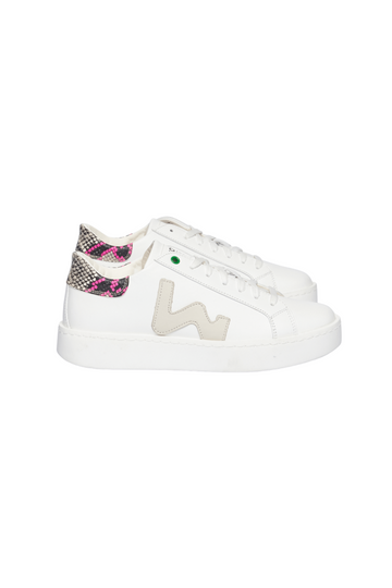 Concept White Snake Fuxia Sneakers