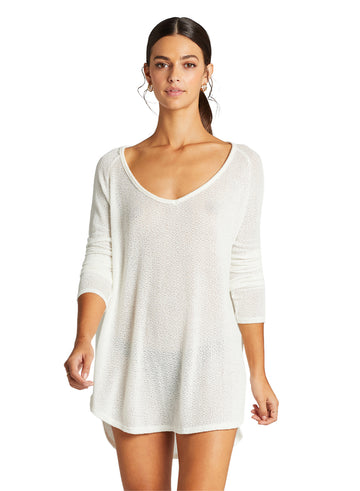 Drifter Beach Sweater - Creme