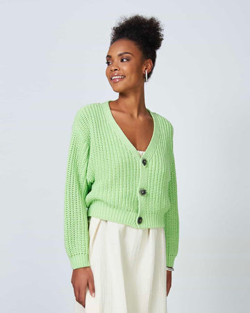 Lena Knit Cardigan - Greenery