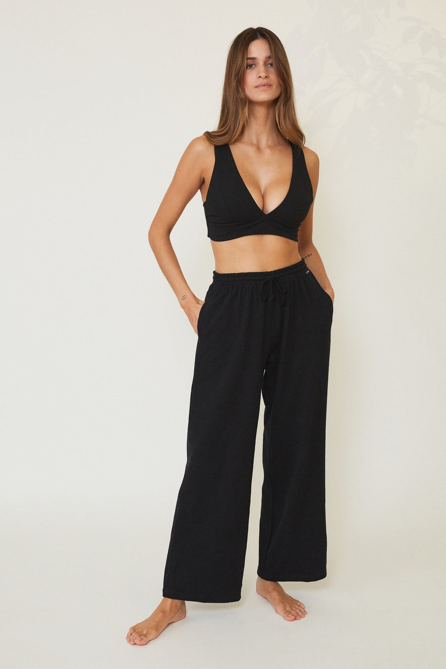 Berta Organic Cotton Bralette - Black