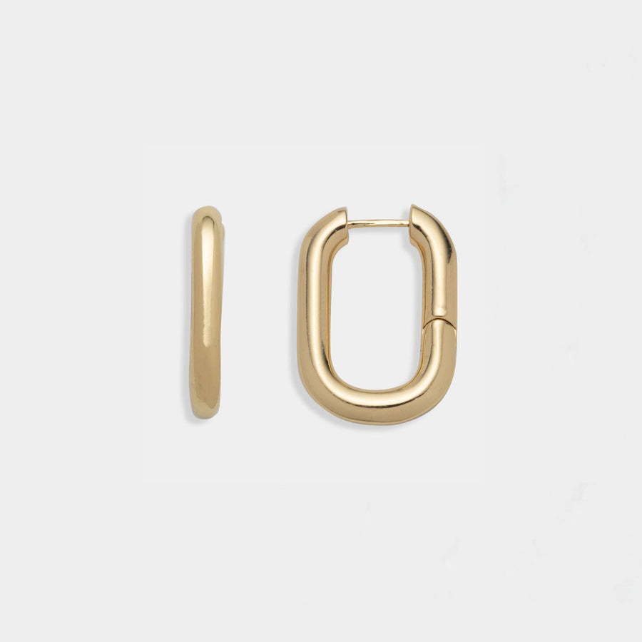 Ari Ovate Hoop Earrings