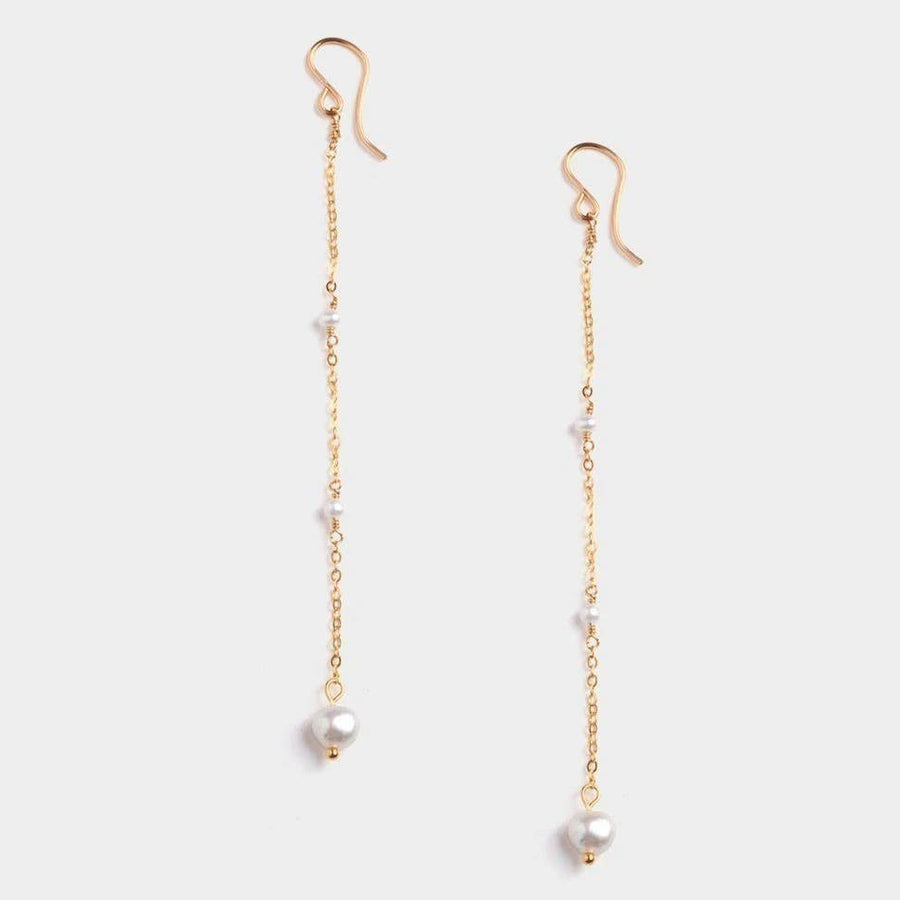 Mini Trio Pearl Earrings