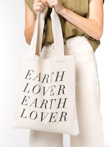 Upcycled Graphic Tote - Earth Lover