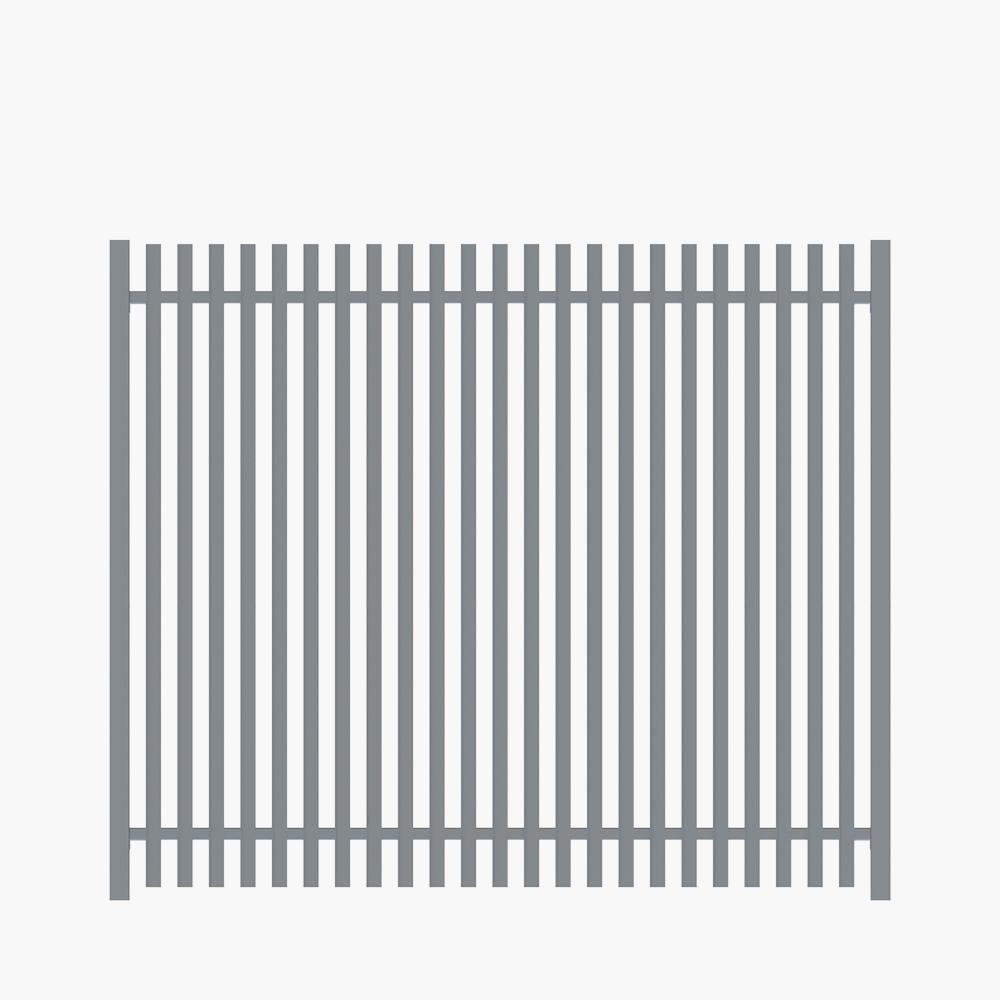 The Nicks-Aluminium Angle Picket Fence Panel-FenceLab