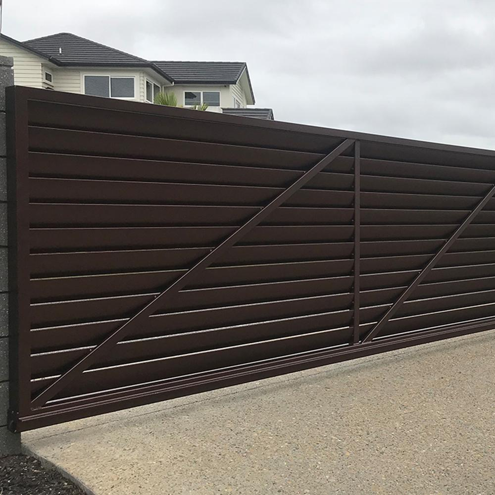 The Verve Gate-Aluminium Louvre Bladed Gate-FenceLab