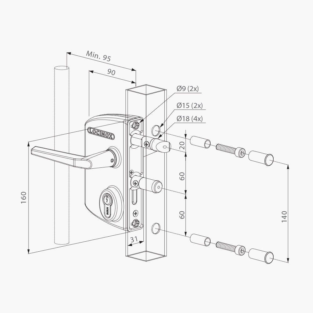 Swing Gate Lock - Edgesmith