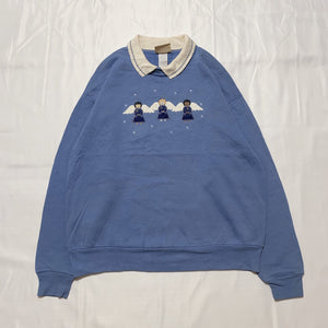 blue angel design sweatshirt