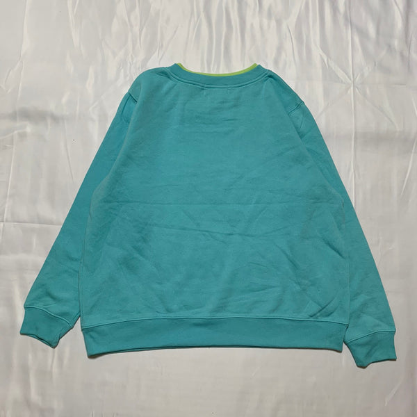 【New】light blue flower sweatshirt