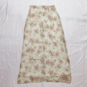 white flower design skirt