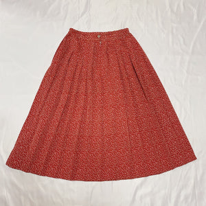 red flower design skirt