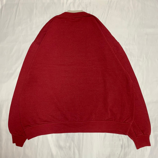 dog design red sweatshirt