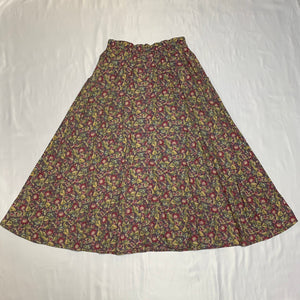 flower design purple skirt