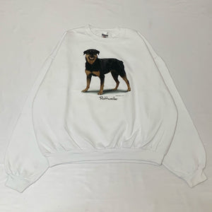 dog design white sweatshirt
