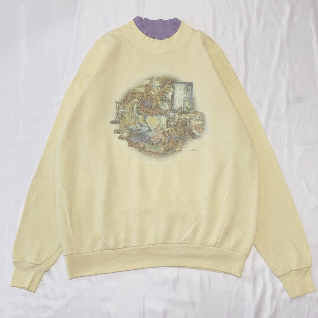 yellow bear design sweatshirt