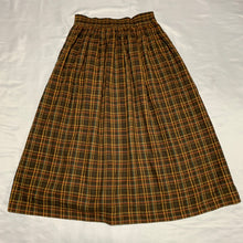 Load image into Gallery viewer, brown check skirt