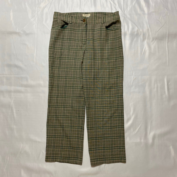green check pants