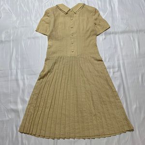 beige ribbon dress