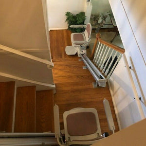 Acorn Stairlifts for 90º/180º Curved Staircase, Free Tech & Install Support 24/7, & Free In-Home Delivery