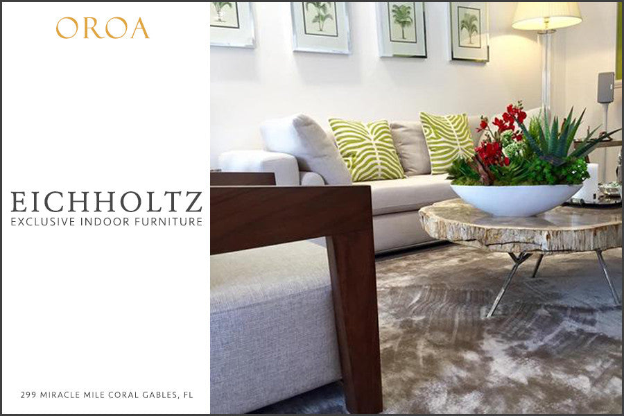 hello oroa our store in coral gables fl. Black Bedroom Furniture Sets. Home Design Ideas