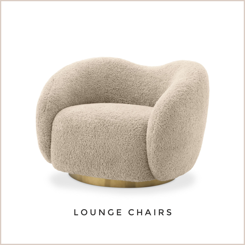 BOUCLE SWIVEL LOUNGE CHAIRS | OROA.COM