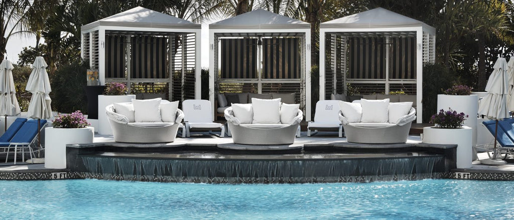 The Cabana Area Includes The Teakman Outdoor Collection, Provided By OROA.