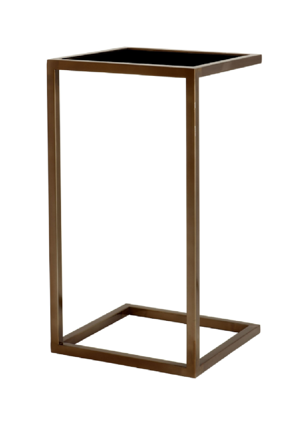 Black Glass Side Table | Eichholtz Galleria | OROA Modern Furniture