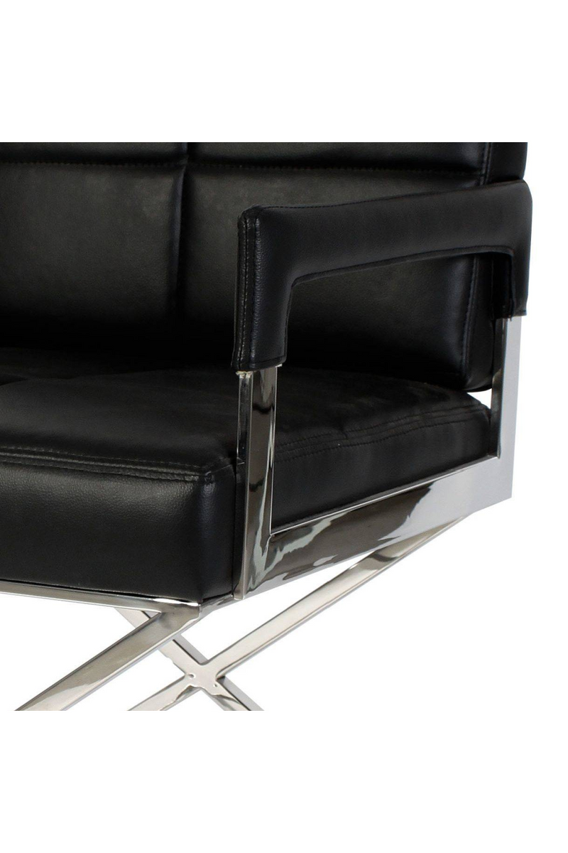 Shop Black Leather Upholstered Desk Armchair - Eichholtz Cross | OROA