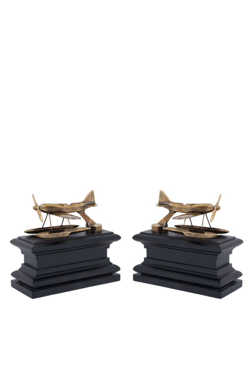 Brass Airplane Bookends | Eichholtz Hydroplane | OROA Modern Furniture