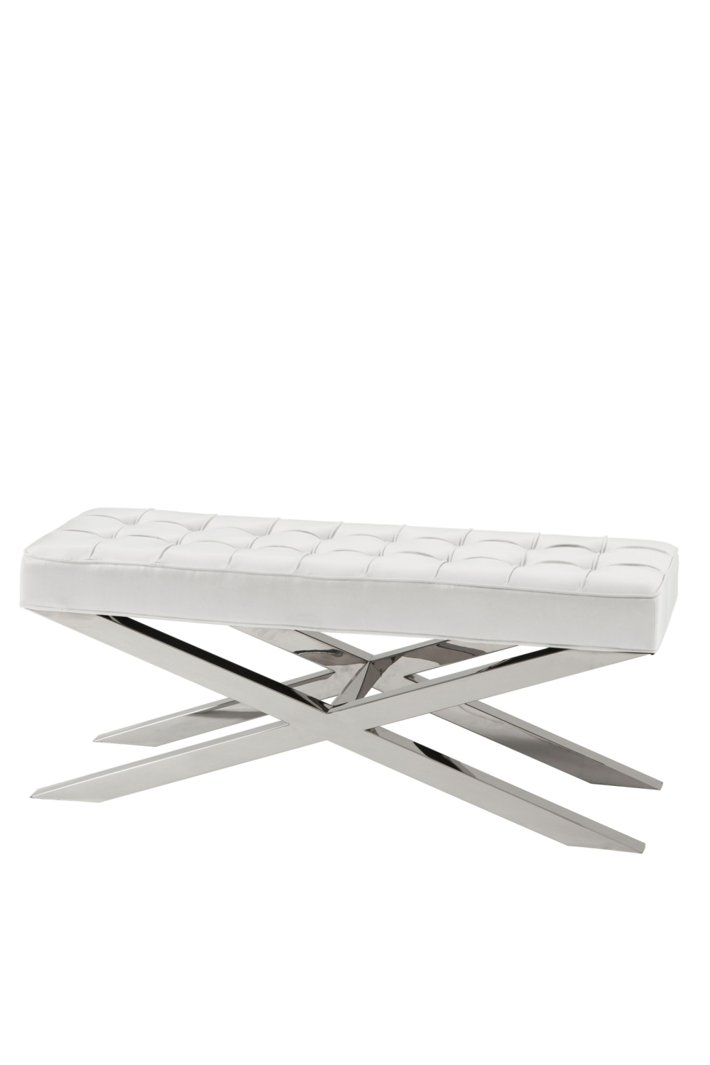 White Leather Bench | Eichholtz Beekman