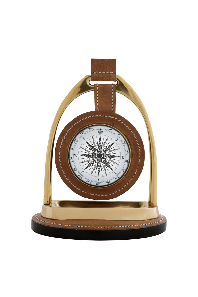 Brass Desk Clock | Eichholtz Bailey Equestrian | OROA Modern Furniture
