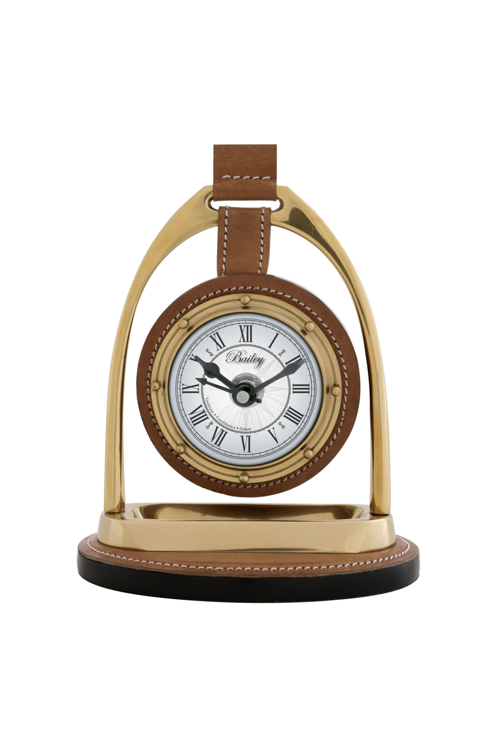 Brass Desk Clock | Eichholtz Bailey Equestrian