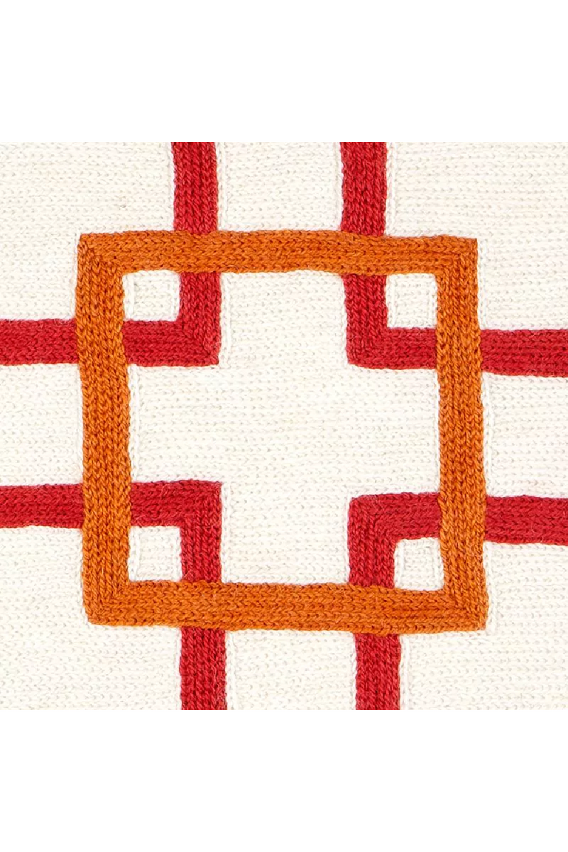 Orange and White Pillow | Eichholtz Bradburry | OROA Luxury Furniture