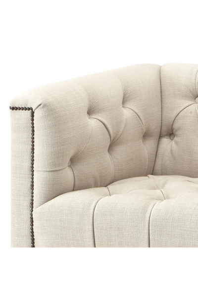Off-White Chesterfield Chair | Eichholtz Paolo | Woodfurniture.com