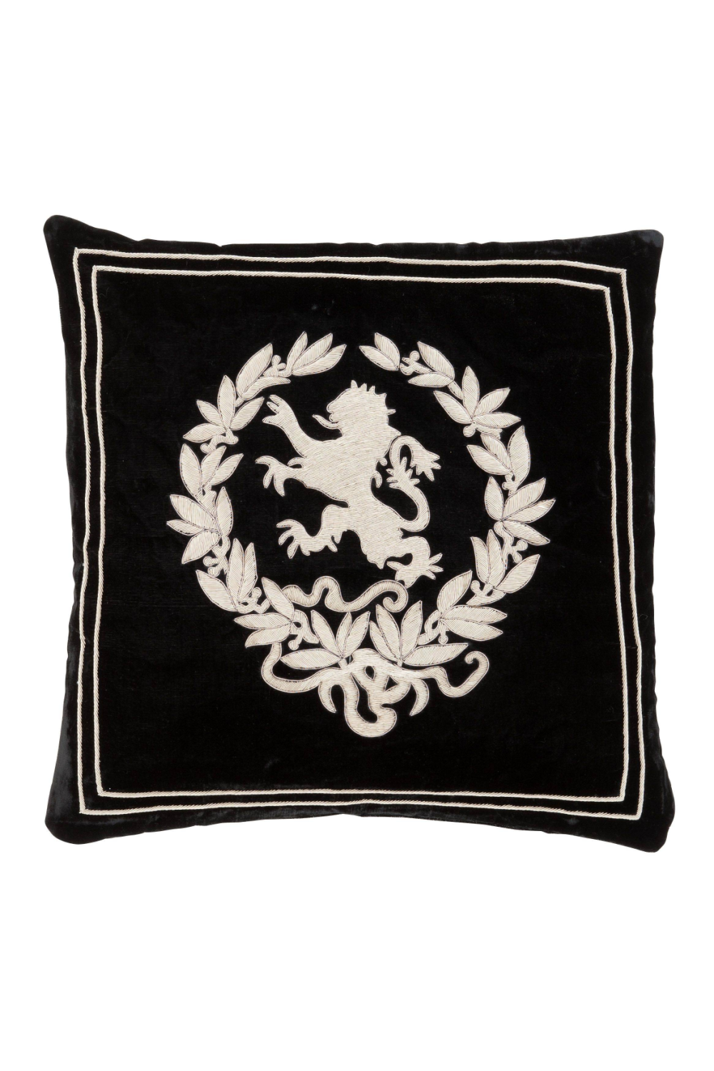 Black Velvet Pillow | Eichholtz Baronesa - S | OROA Luxury Furniture