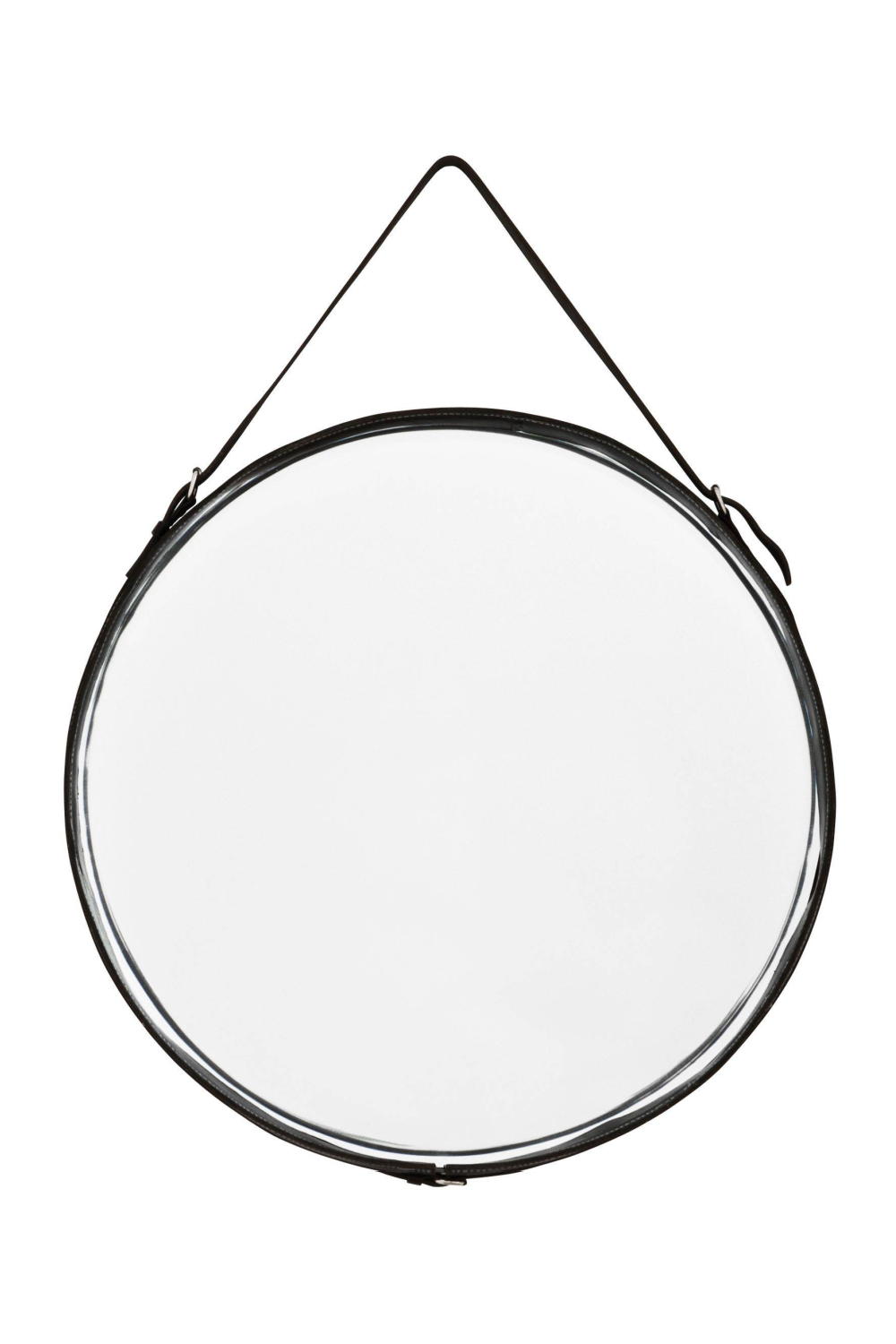 Black Leather Belted Mirror | Eichholtz Puck