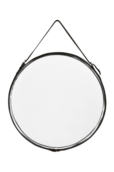 Black Leather Belted Mirror | Eichholtz Puck | OROA - Luxury Decor