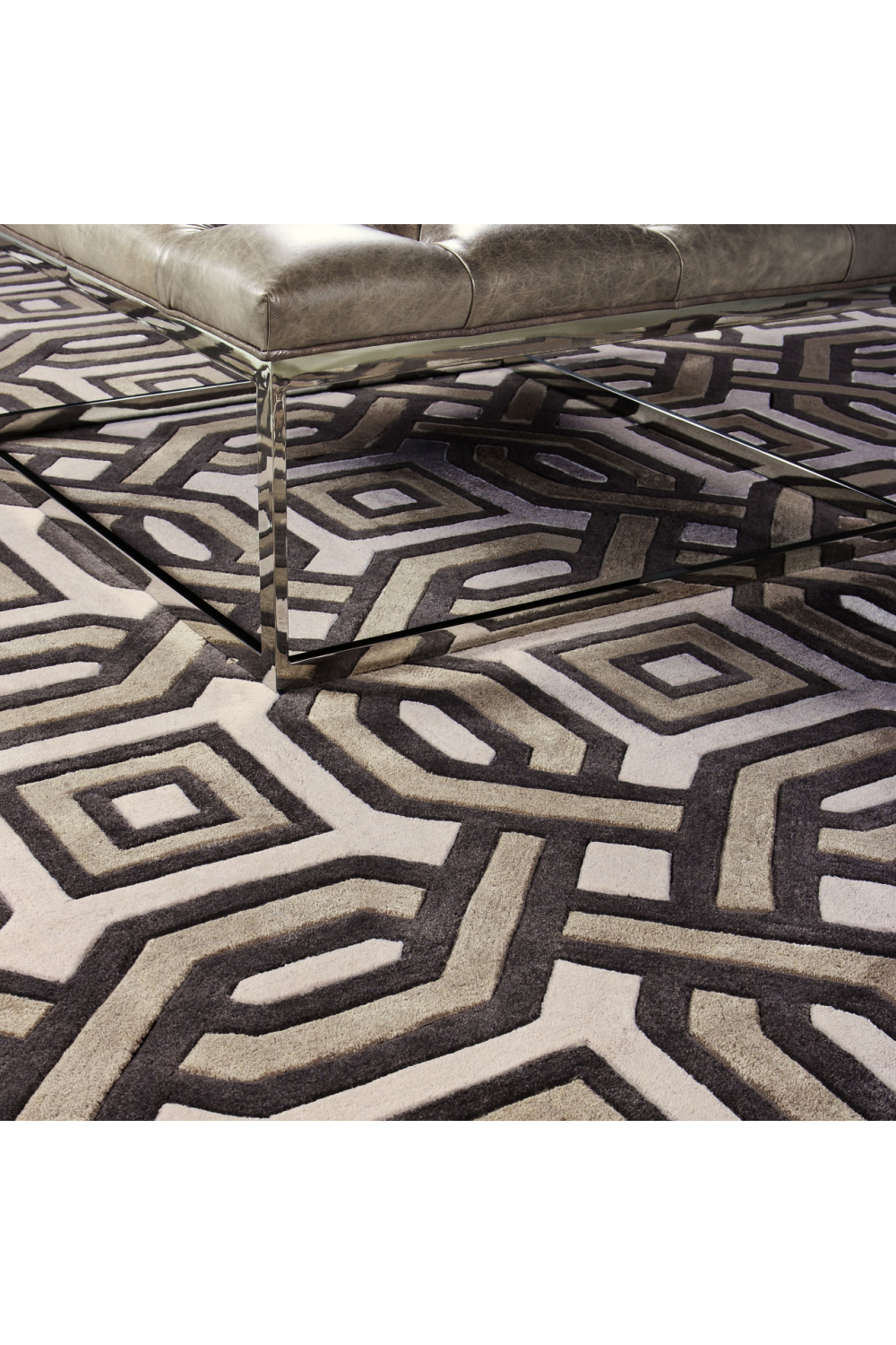 Brown & White Rug | Eichholtz Diabolo (7x10) | OROA Modern Furniture