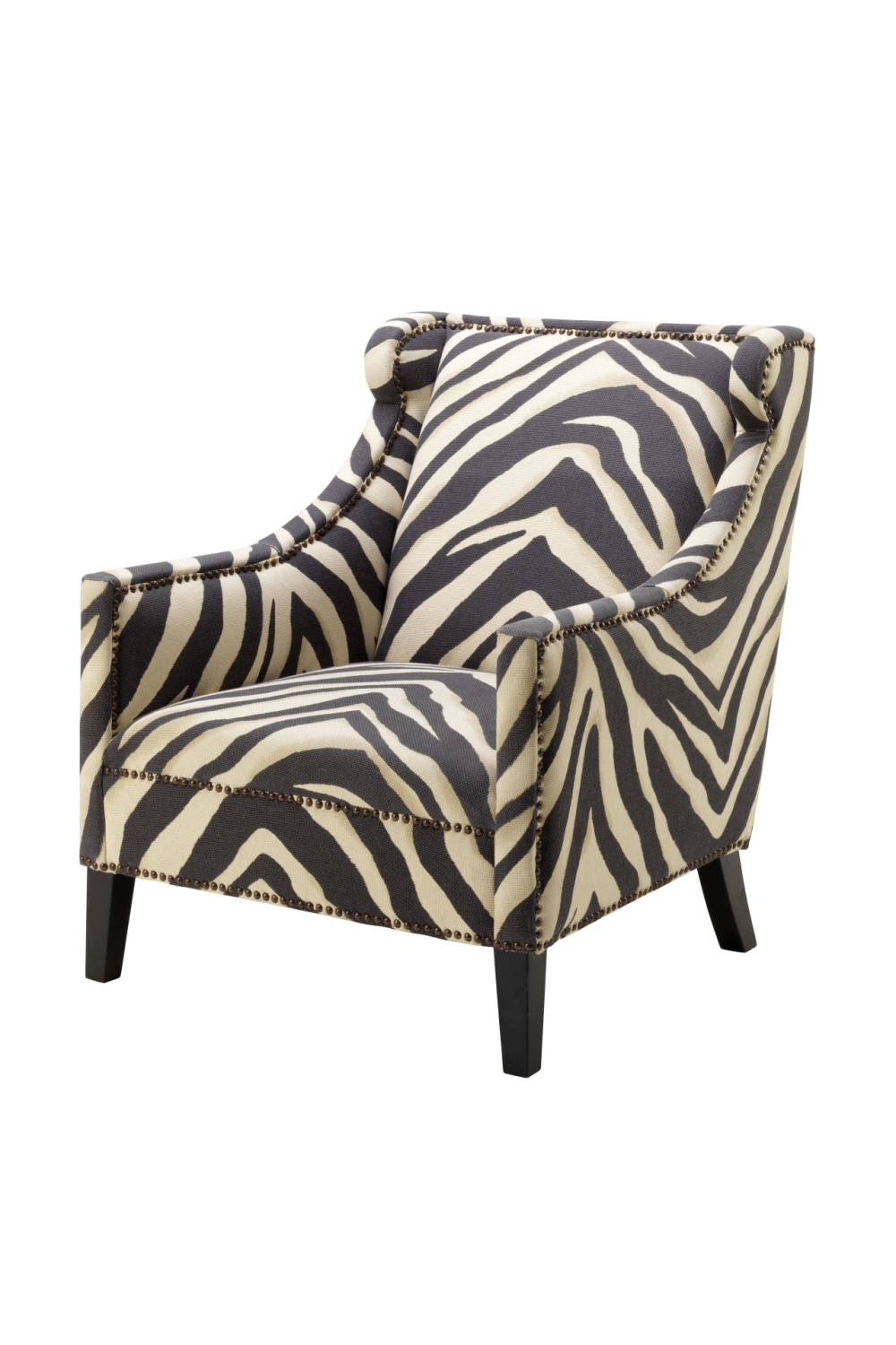 Zebra Print Slipper Chair | Eichholtz Jenner